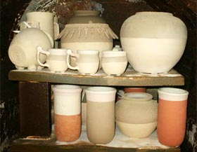 Wood Kiln before firing