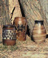 pottery with glaze