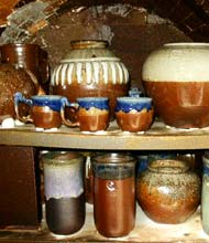 pottery after kiln