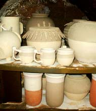pottery before kiln